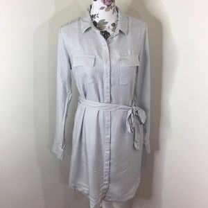 A New Day Pinstripe Shirt Dress